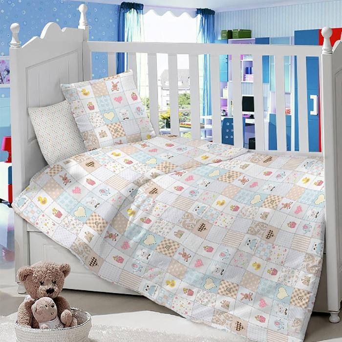 Комплект в кроватку LIMETIME Комплект в кроватку, простыня на резинке, LT1000-51, голубой