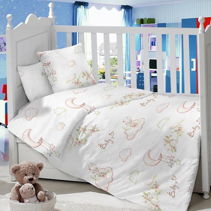 Комплект в кроватку LIMETIME Комплект в кроватку, простыня классическая, LT1100-70, белый