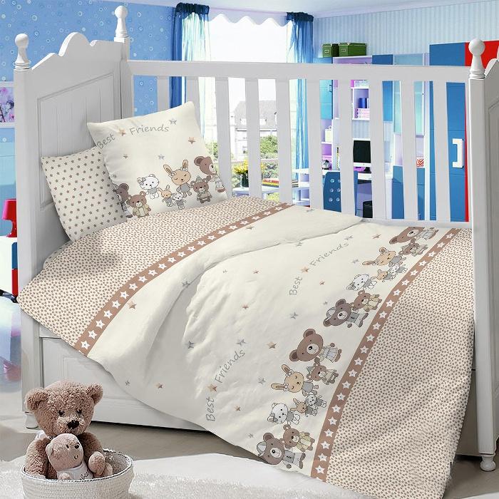 Комплект в кроватку LIMETIME Комплект в кроватку, простыня на резинке, LT1000-62, коричневый
