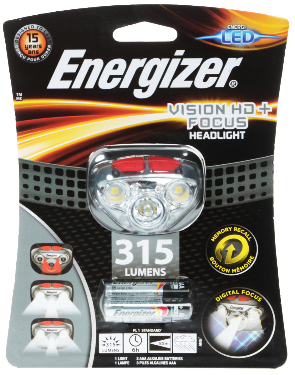 Фонарь Energizer Headlight Vision HD+Focus, светодиодный. E300280700