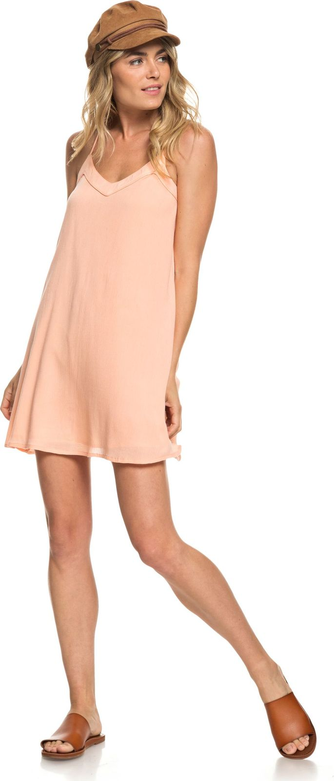 Сарафан Roxy Off We Go Dress off the shoulder mini dress in khaki
