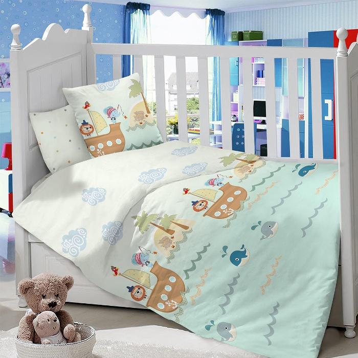 Комплект в кроватку LIMETIME Комплект в кроватку, простыня классическая, LT1100-67, бирюзовый