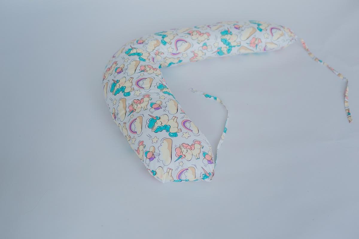 Подушка для кормящих и беременных бизиквест Бизиквест, ПД0002, Единороги Бумеранг, ПД0002 подушка для кормящих и беременных бизиквест бизиквест пд0012 вензеля бумеранг пд0012