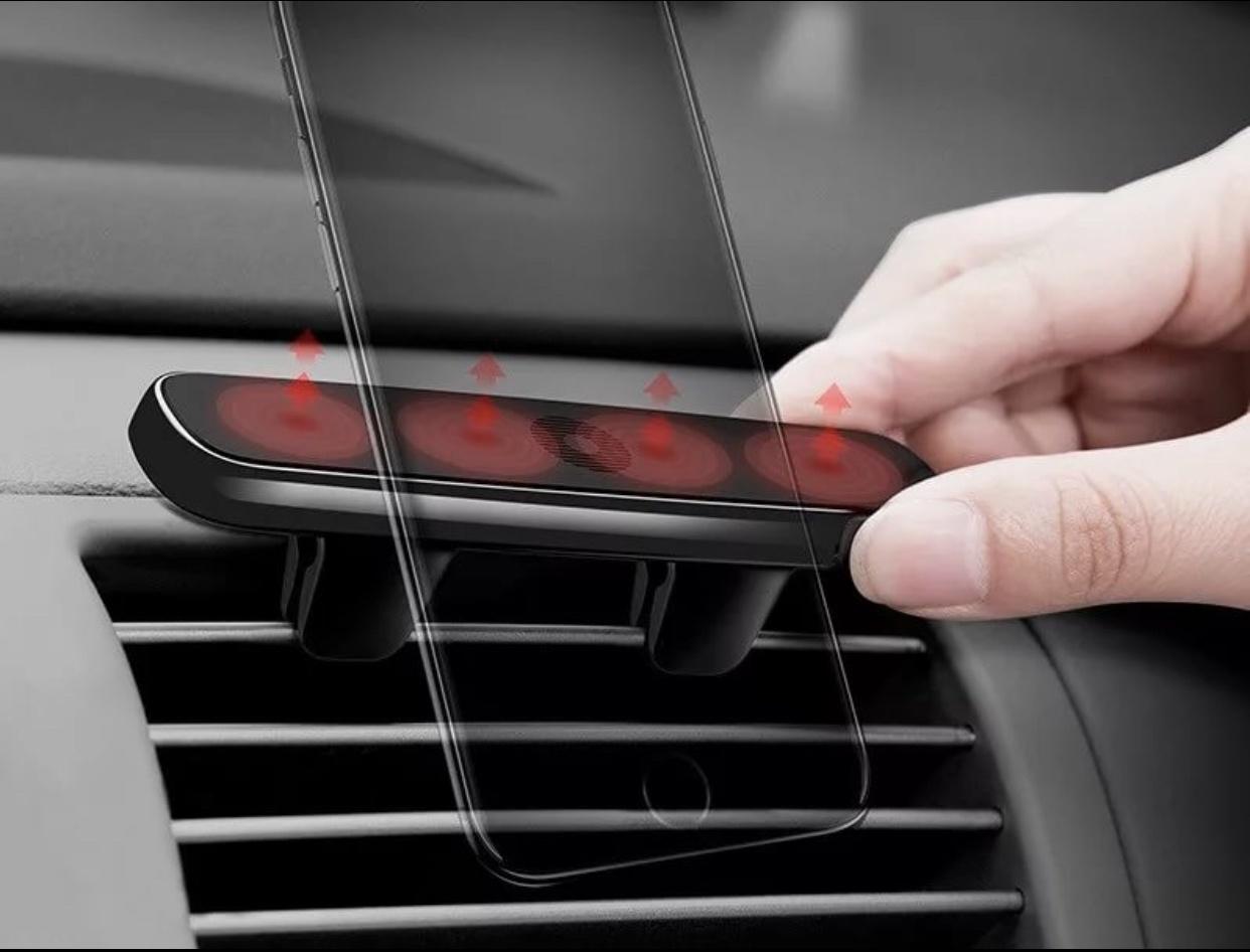 Автомобильный держатель Baseus Baseus Double Clip Vehicle Mount Horizontal type (SUHS-DP01) - (Black), CAR-2570 цена и фото