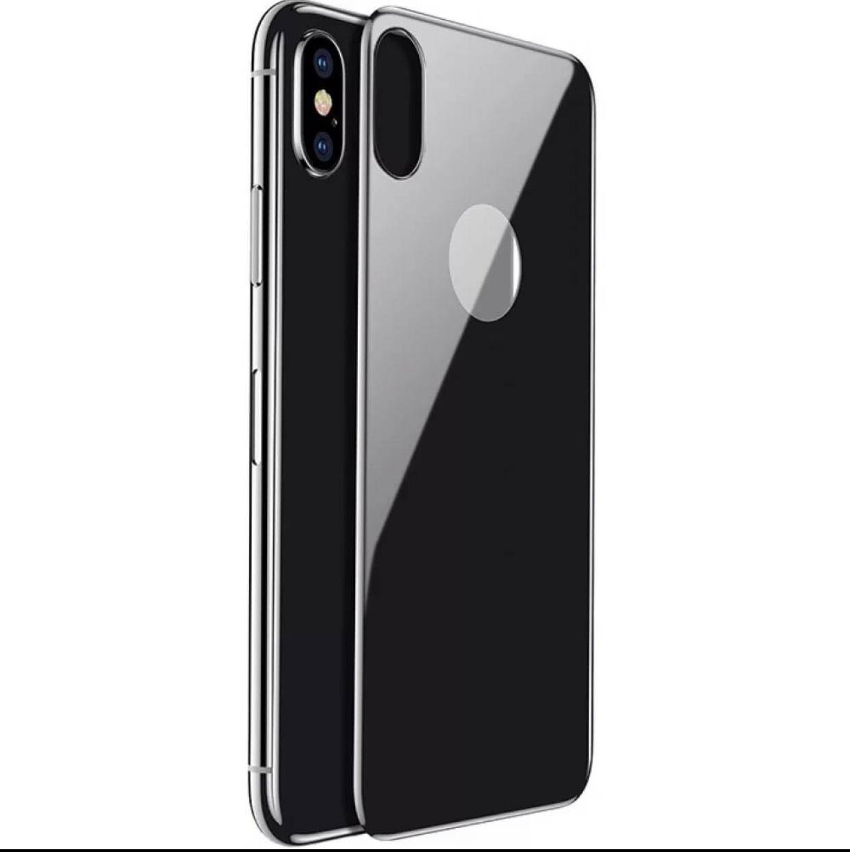 Фото - Защитное стекло Baseus ЗЗащитное стекло Baseus 4D Tempered Back Glass для задней панели iPhone X black, BGF-1017, черный contrast lace keyhole back blouse