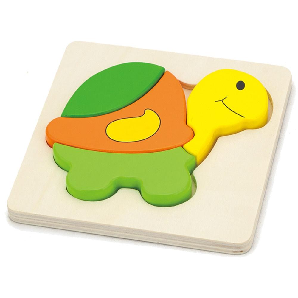 Пазл для малышей Viga Вкладыш Черепаха деревянный, 16941 детские игрушки viga