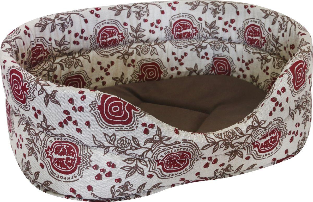 Лежак для животных ZOOexpress Дерби №2, 75302, цвет в ассортименте, 43 х 30 х 16 см цена