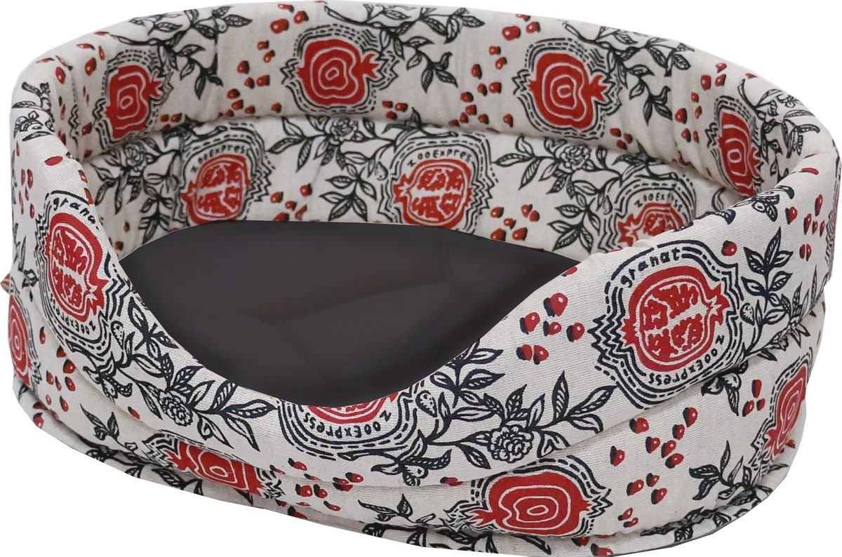 Лежак для животных ZOOexpress Дерби №1, с мехом,75314, цвет в ассортименте, 53 х 38 х 18 см цена