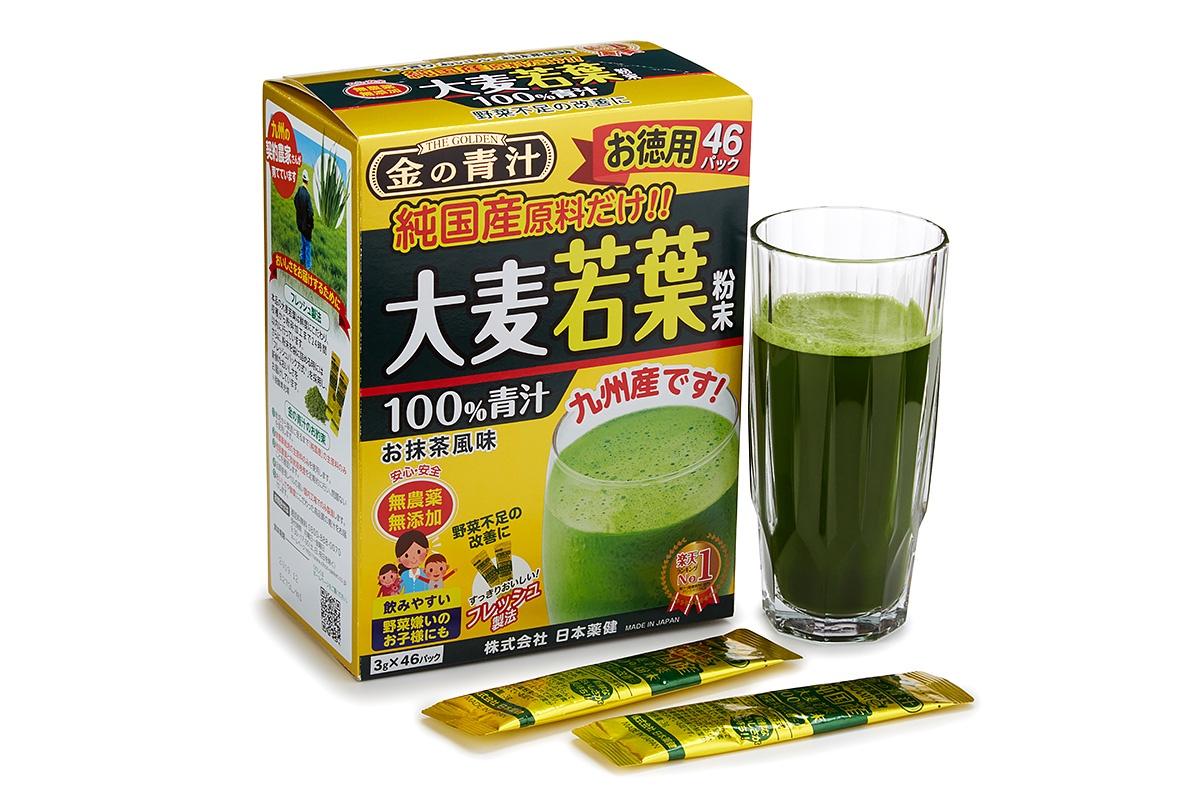 Витаминно-минеральные комплексы Nihon-yakken Японский напиток Аодзиру 100% сок ячменя (46 саше)