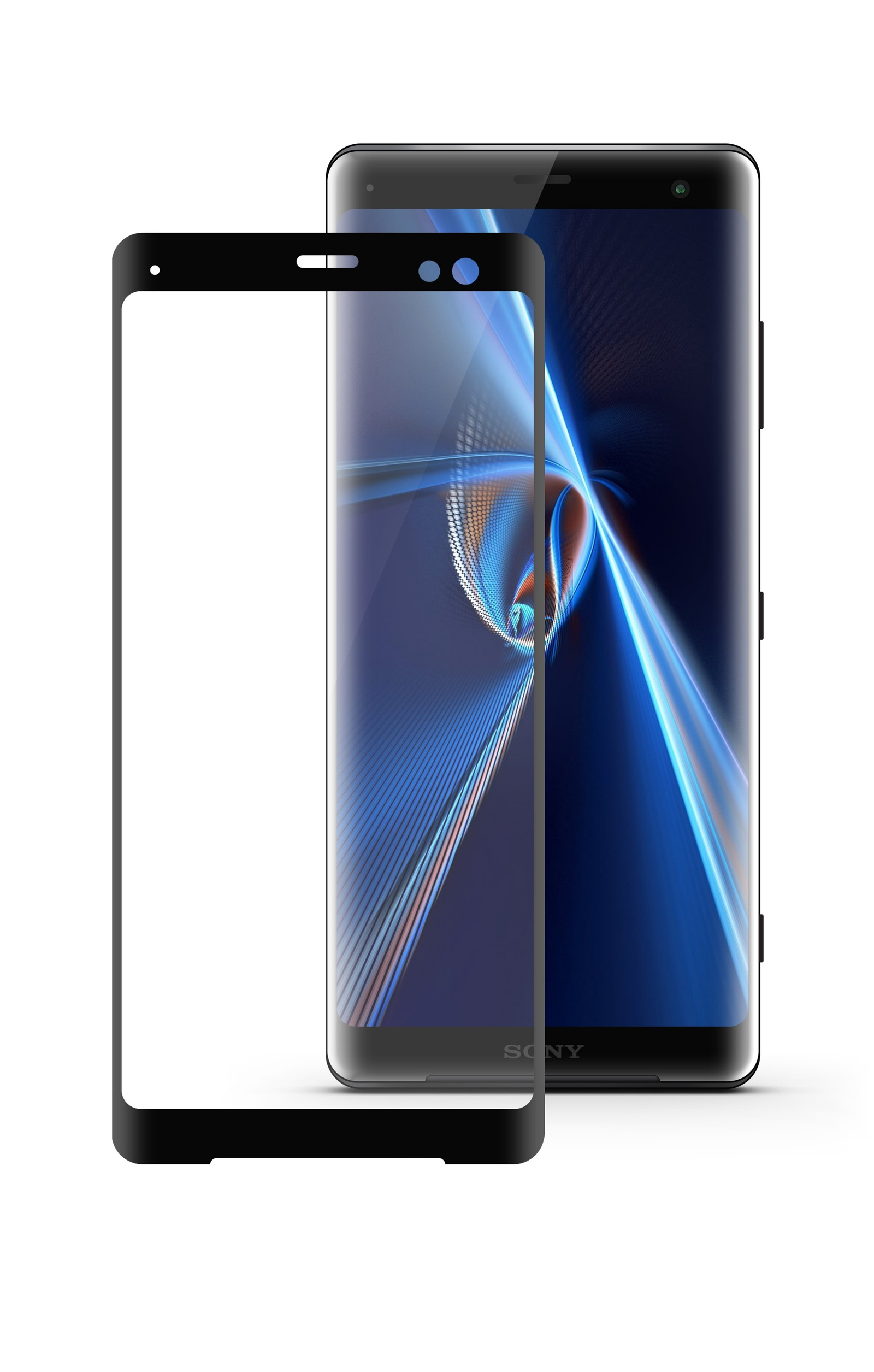 Защитное стекло Mobius Sony Xperia XZ3, черный