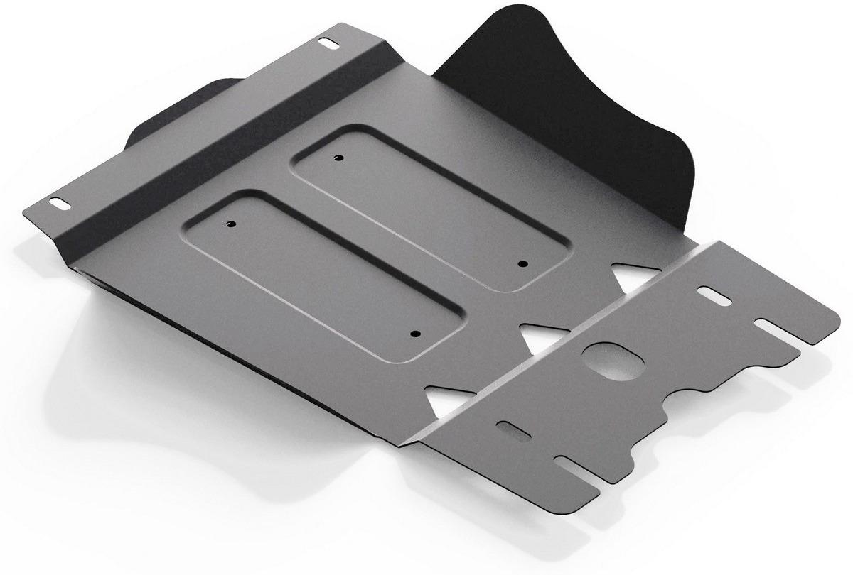 Защита КПП Rival для Mitsubishi L200 2006-2015/Pajero Sport 2008-2016, алюминий 4 мм, с крепежом. 333.4024.1333.4024.1Защита КПП Rival для Mitsubishi L200 (V - все) 2006-2015/Mitsubishi Pajero Sport (V - все) 2008-2016, алюминий 4 мм, с крепежом, 333.4024.1 Алюминиевые защиты Rival надежно защищают днище вашего автомобиля от повреждений, например при наезде на бордюры, а также выполняют эстетическую функцию при установке на высокие автомобили. - Толщина алюминиевых защит в 2 раза толще стальных, а вес при этом меньше до 30%. - Отлично отводит тепло от двигателя своей поверхностью, что спасает двигатель от перегрева в летний период или при высоких нагрузках. - В отличие от стальных, алюминиевые защиты не поддаются коррозии, что гарантирует срок службы защит более 5 лет. - Покрываются порошковой краской, что надолго сохраняет первоначальный вид новой защиты и защищает от гальванической коррозии. - Глубокий штамп дополнительно усиливает конструкцию защиты. - Подштамповка в местах крепления защищает крепеж от срезания. - Технологические отверстия там, где они необходимы для смены масла и слива воды, оборудованные заглушками, надежно закрепленными на защите. - Помимо основной функции защиты от удара, конструкция так же существенно снижает попадание в моторный отсек влаги и грязи. В комплекте инструкция по установке. Уважаемые клиенты! Обращаем ваше внимание, на тот факт, что защита имеет форму, соответствующую модели данного автомобиля. Наличие глубокого штампа и лючков для смены фильтров/масла предусмотрено не на всех защитах. Фото служит для визуального восприятия товара.