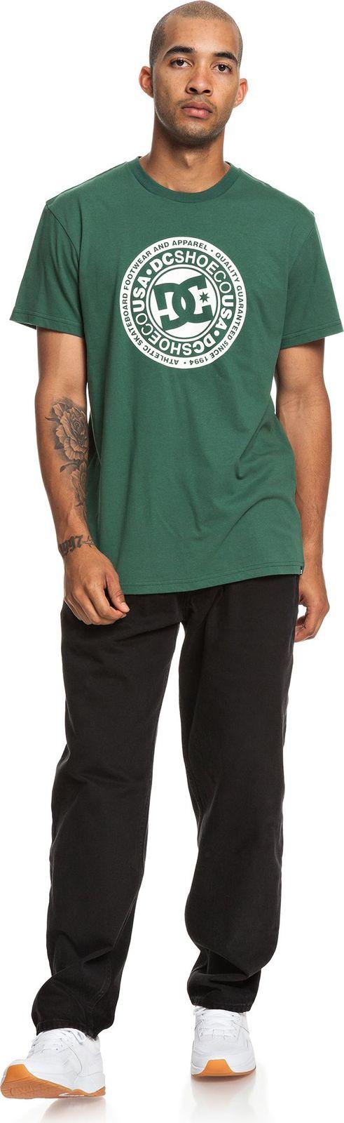 Футболка мужская DC Shoes Circle Starss2, цвет: зеленый. EDYZT03901-GRW0. Размер XS (44)EDYZT03901-GRW0