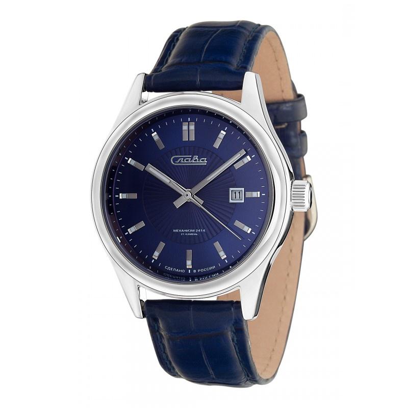 Часы Слава Премьер, 1361605/300-2414, синий, серебристый все цены