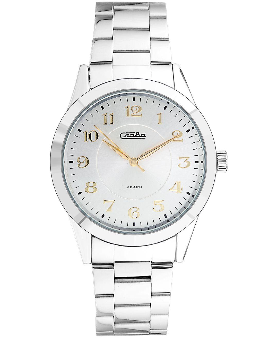 Часы Слава Традиция, 1731986/2035-100, белый, серебристый все цены