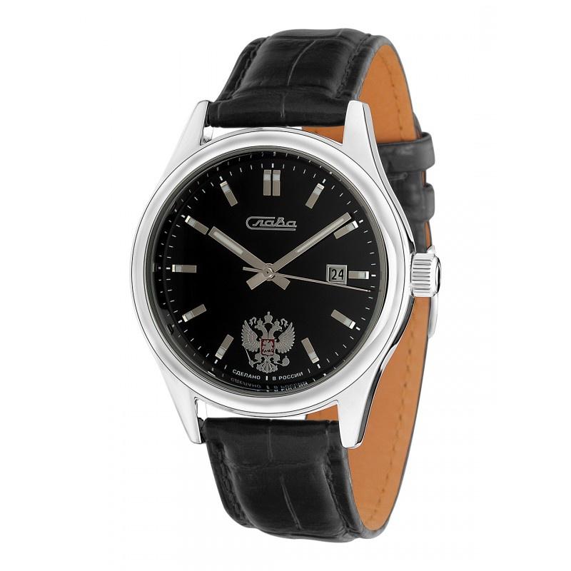 Часы Слава Премьер, 1361609/300-2414, черный, серебристый все цены