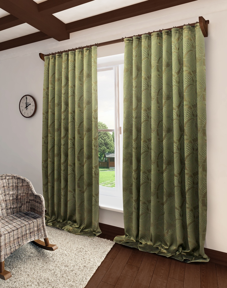 Штора Sanpa Home Collection HP2111/24/1Е Селина зеленый, 200*280 см, зеленый штора quelle heine home 6533 4 в ш ок 245x135 см