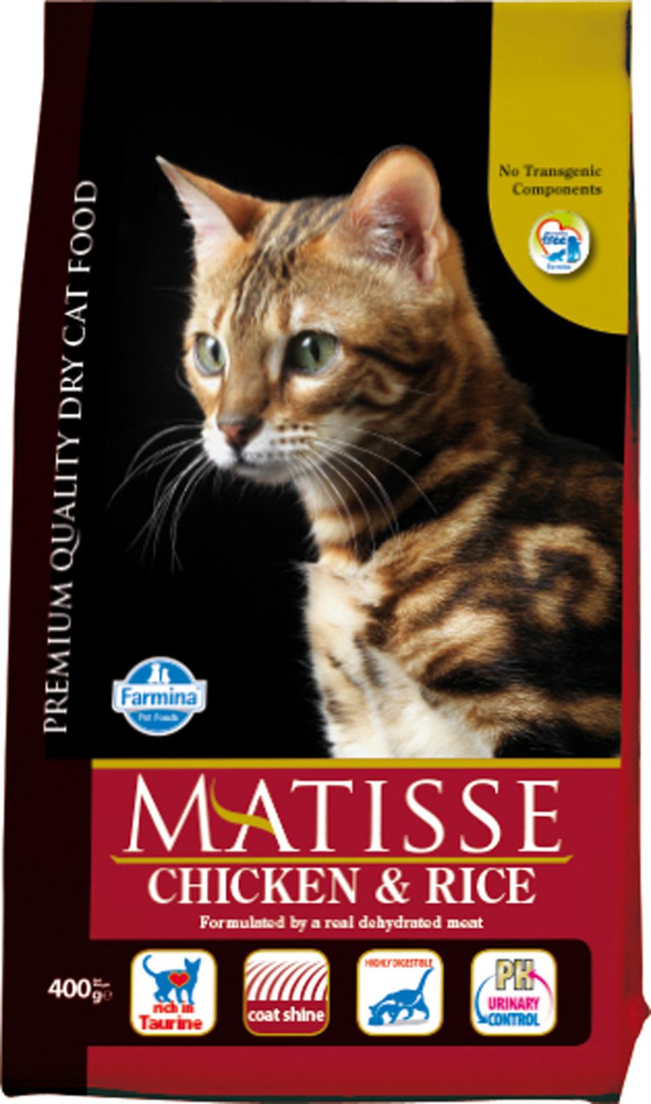Корм сухой Farmina Matisse, для взрослых кошек, с курицей и рисом, 400 г все цены