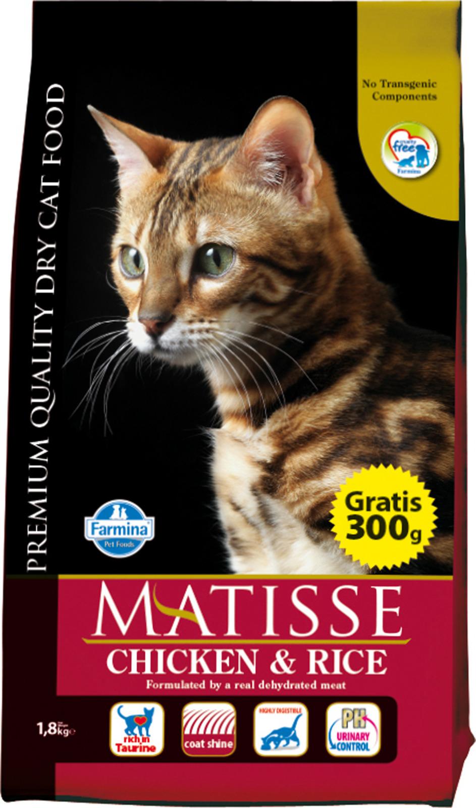 Корм сухой Farmina Matisse, для взрослых кошек, с курицей и рисом, 1,5 кг все цены