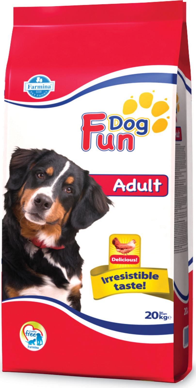 Фото - Корм сухой Farmina Fun Dog, для собак, с курицей, 20 кг farmina farmina fun dog adult