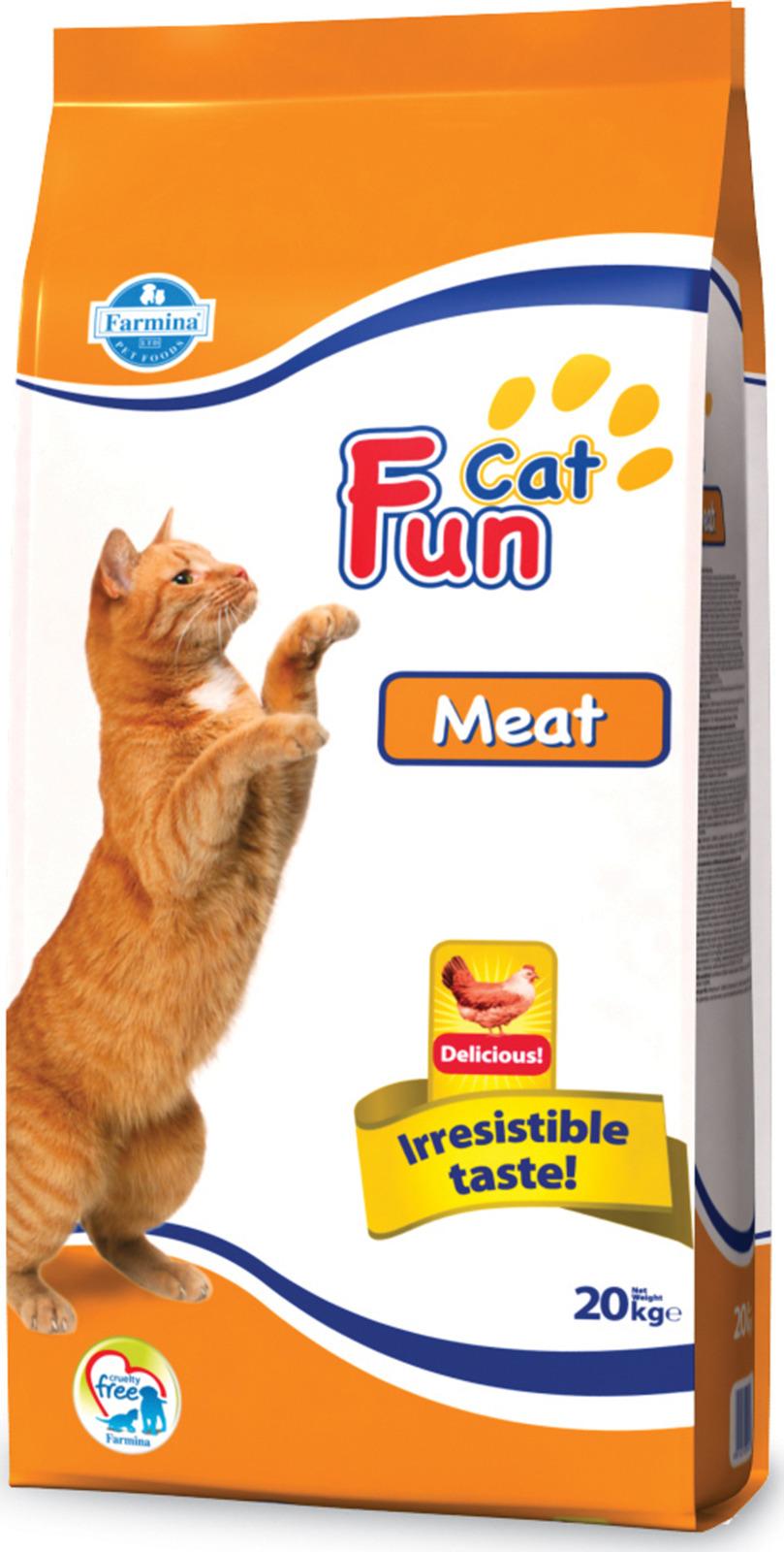 Корм сухой Farmina Fun Cat, для кошек, с мясом, 20 кг сухой корм farmina fun cat meat с мясом для взрослых кошек 20кг 10476