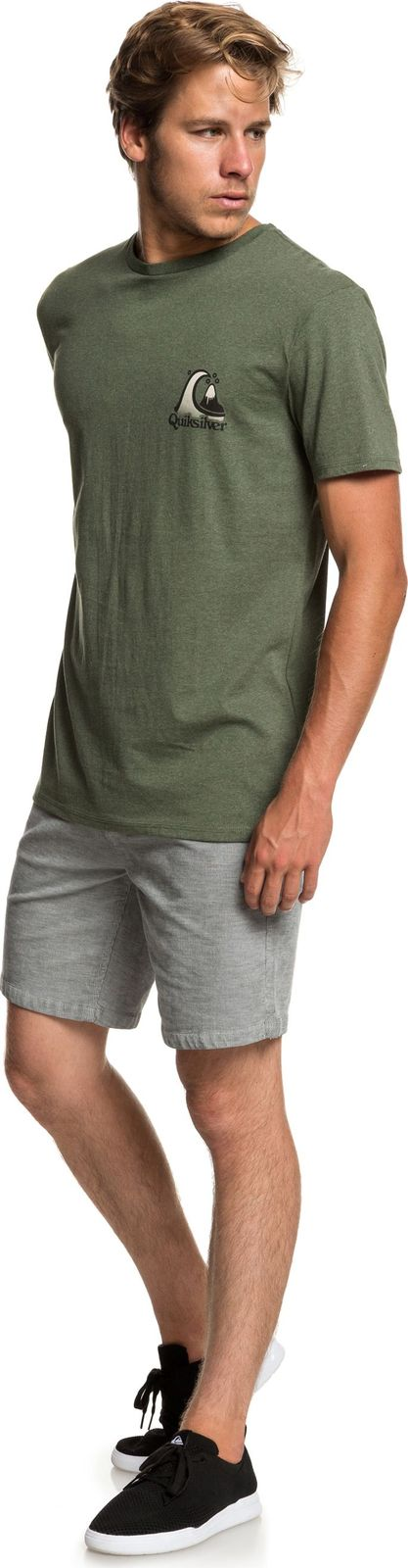 Футболка Quiksilver Captainslimss футболка мужская quiksilver captainslimss цвет зеленый серый eqyzt05229 kzeh размер m 46 48