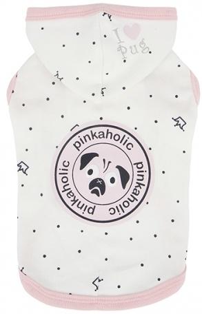 Одежда для собак Pinkaholic (Южная Корея) ROYAL PUG NARA-TS7307-OW-M, белый