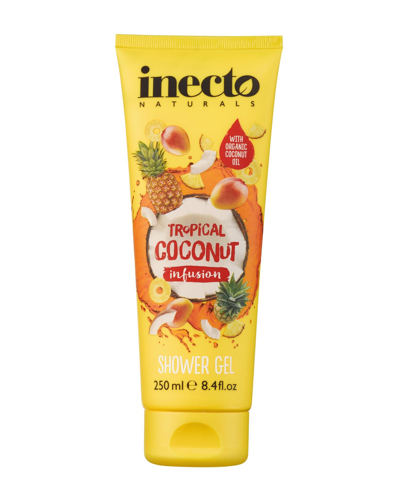 Гель для душа Inecto с маслом кокоса, тропический