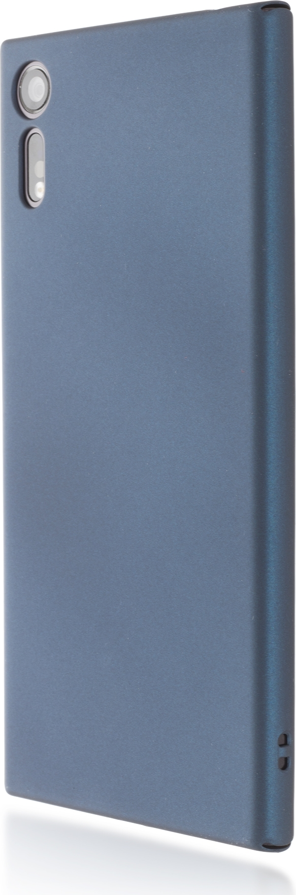 Чехол Brosco 4Side Soft-Touch для Sony Xperia XZ, голубой