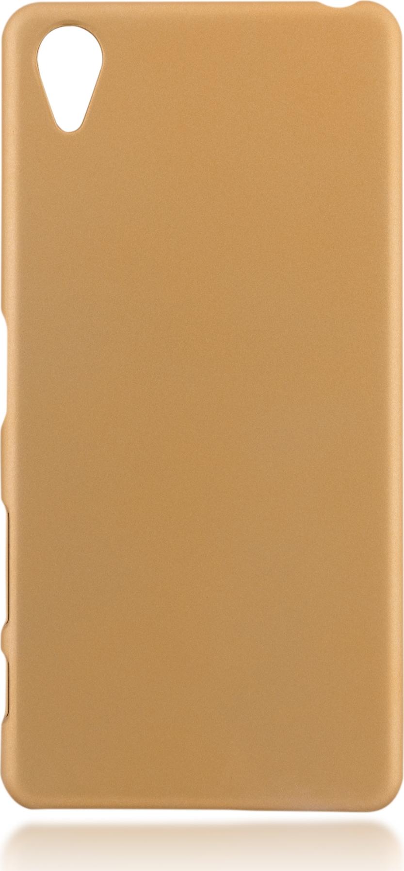 Чехол Brosco Soft-Touch для Sony Xperia X Perfomance, шампань цена