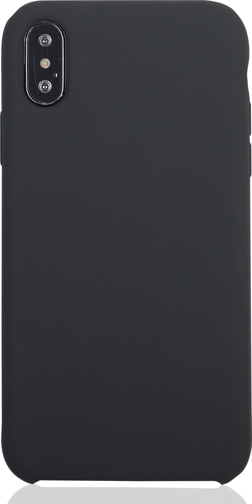 Чехол Brosco Softrubber для Apple iPhone XS Max, серый аксессуар чехол для apple iphone 6 brosco soft rubber black ip6 softrubber black