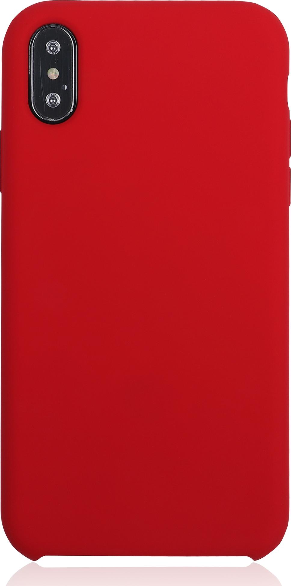 Чехол Brosco Softrubber для Apple iPhone XS Max, красный цена и фото