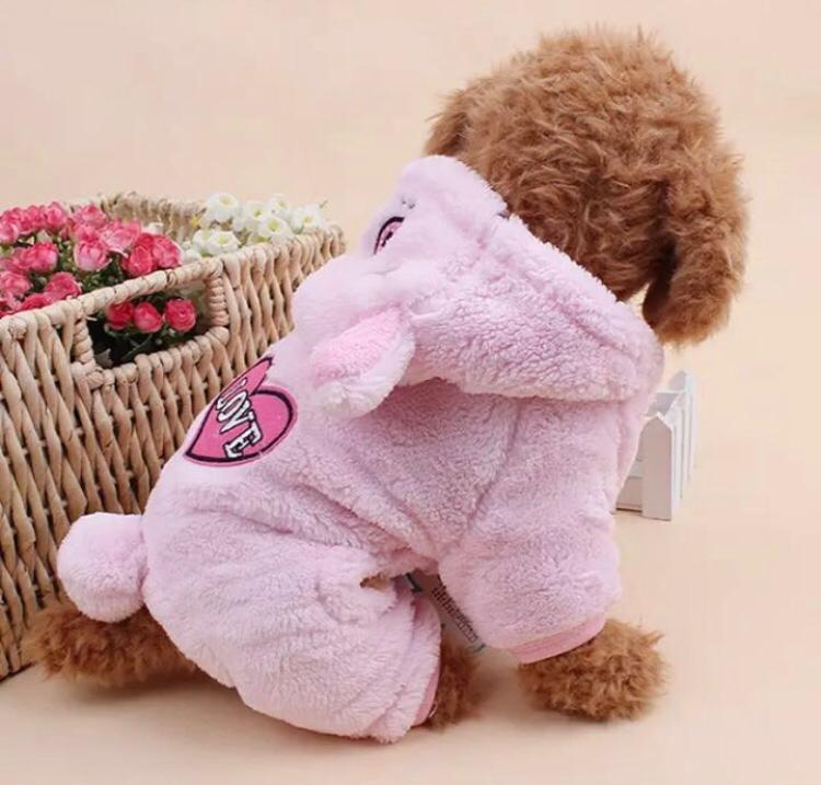комбинезоны и полукомбинезоны лео комбинезон на манжетах я зайка Одежда для собак Arnydog.ru Комбинезон Зайка розовый CQ368A_l