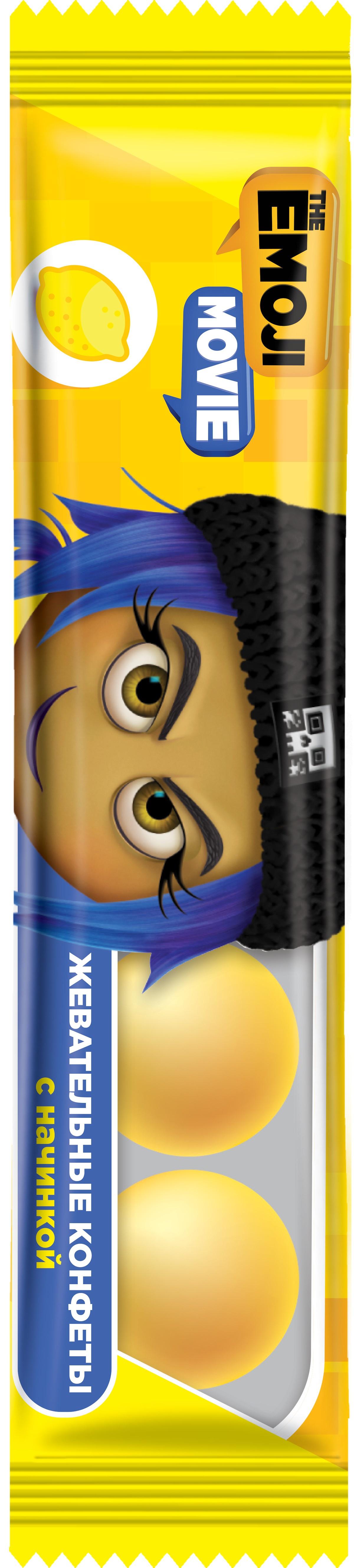 Конфеты Конфитрейд EMOJII жевательные конфеты cloetta chewits со вкусом клубники 24 шт по 29 г