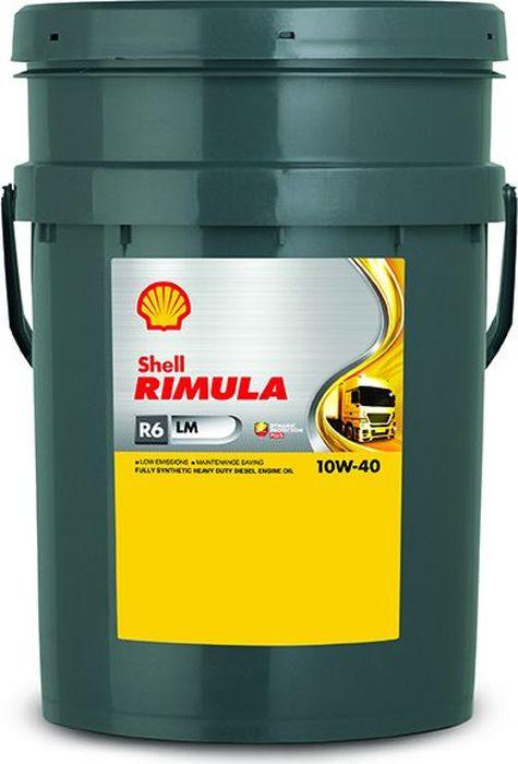 Масло моторное Shell Rimula R6 LM для дизельных двигателей, 10W-40, синтетическое, 20 л