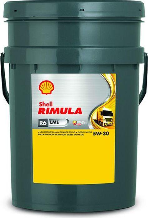 Масло моторное Shell Rimula R6 LME, 550043092, для дизельных двигателей, синтетическое, 5W-30, 20 л цена