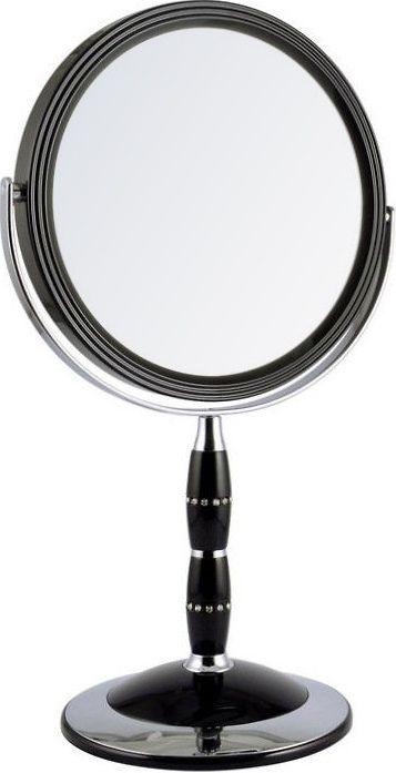 Зеркало косметическое Weisen настольное двустороннее с 5Х увеличением, с кристаллами B78088 BLK/C Black, черный, серебристый153858Зеркало настольное, двустороннее. Изготовлено из хромированного металла и пластмассы, покрытой цветным лаком. Тончайшее высококачественное стекло, используемое при изготовлении (1,5 мм), не даёт искривлений зеркальной поверхности. Увеличение в 5 раз.