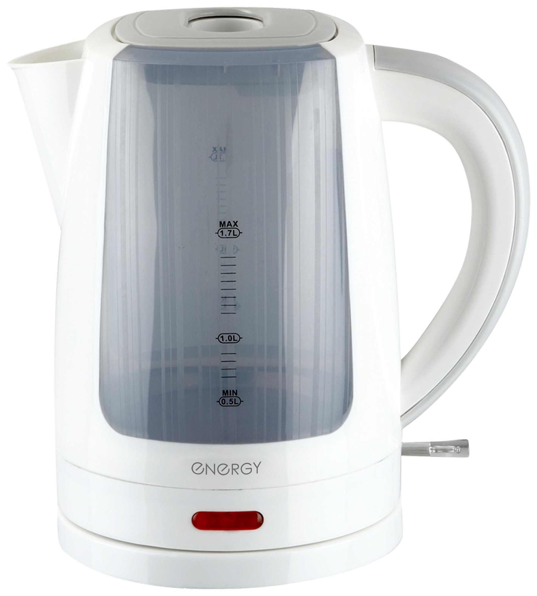 Электрический чайник ENERGY E-221, 54 153068, белый energy чайник energy e 226 1 7л диск белый