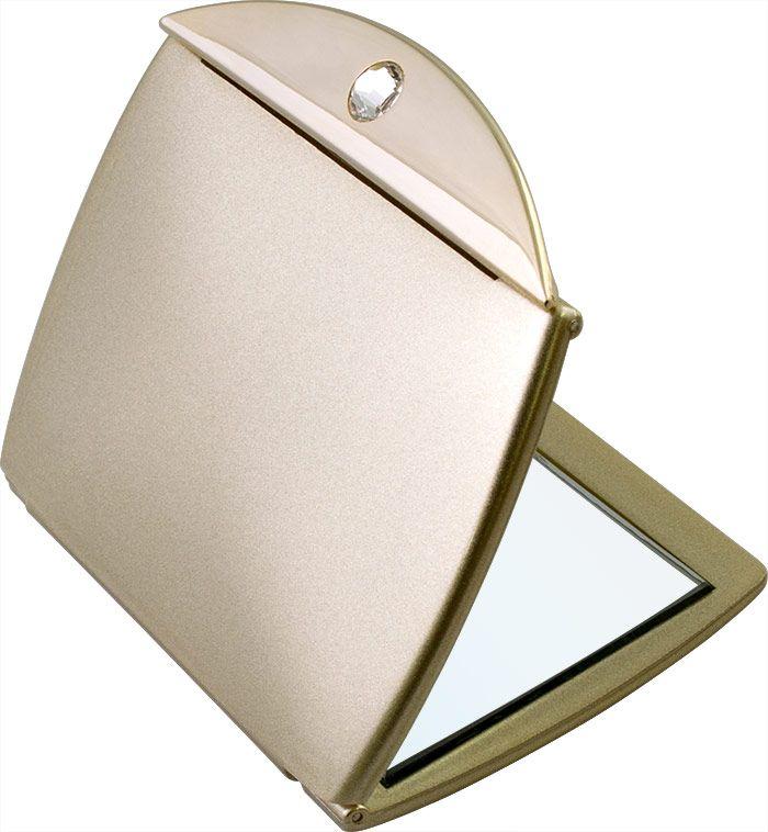 Зеркало карманное Weisen компактное с 3Х увеличением, с кристаллами T 331 A G5/G Gold , 153538, золотой153538Зеркало компактное. Изготовлено из качественной пластмассы покрытой цветным лаком. Тончайшее стекло, используемое при изготовлении (1,5 мм), не даёт искривлений зеркальной поверхности. Одна часть простое зеркало, вторая сторона - увеличение в 3 раза.