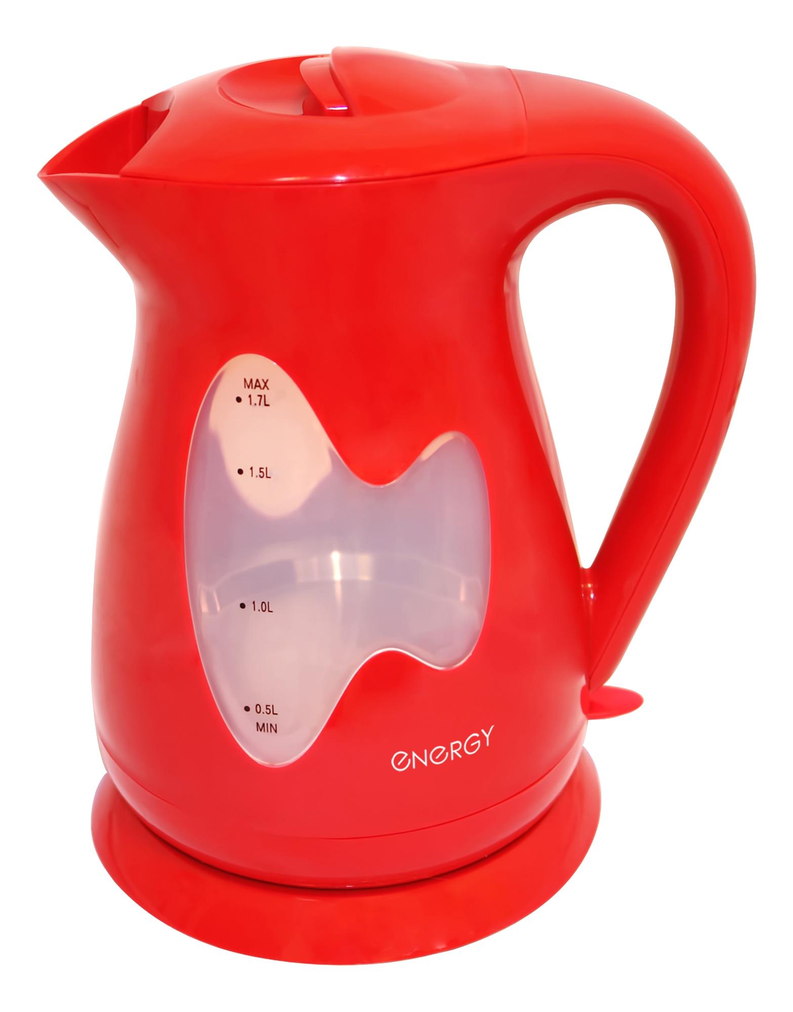 Электрический чайник ENERGY E-218, 54 153125, красный energy чайник energy e 226 1 7л диск белый