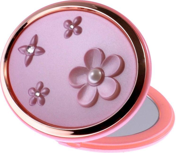Зеркало карманное Weisen компактное двустороннее с 5Х увеличением, с кристаллами T 666PP/RGP, 153508, розовый, золотой153508Зеркало компактное. Изготовлено из качественной пластмассы покрытой цветным лаком. Тончайшее стекло, используемое при изготовлении (1,5 мм), не даёт искривлений зеркальной поверхности. Одна часть простое зеркало, вторая сторона - увеличение в 5 раз.
