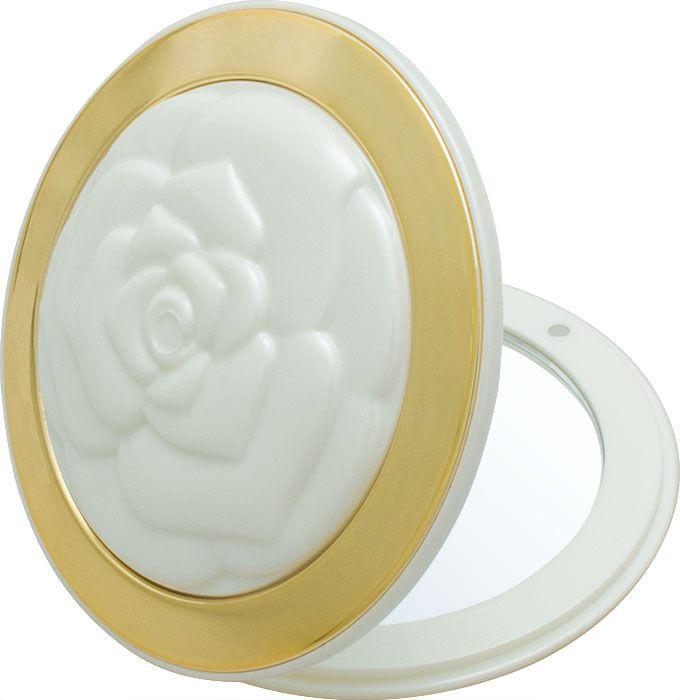 Зеркало карманное Weisen компактное с 3Х увеличением NT 551 Am PER/G, белый, золотой зеркало timo аура белый с золотом au z 100 m b g