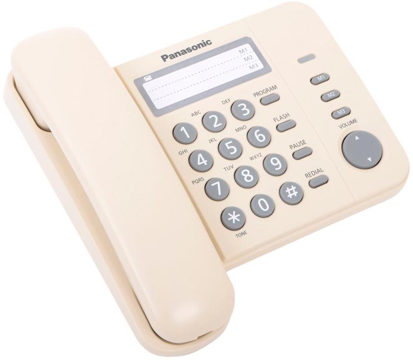 Телефон PANASONIC KX-TS2352RUJ, светло-бежевый