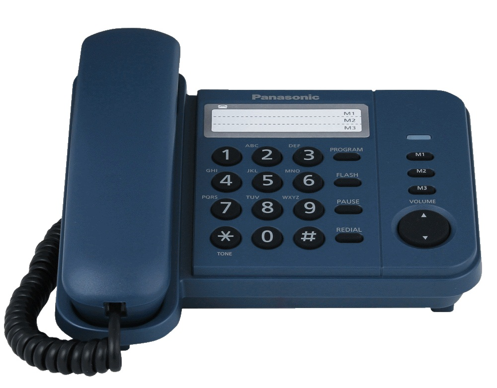 Фото - Телефон PANASONIC KX-TS2352RUC, синий проводной и dect телефон foreign products vtech ds6671 3