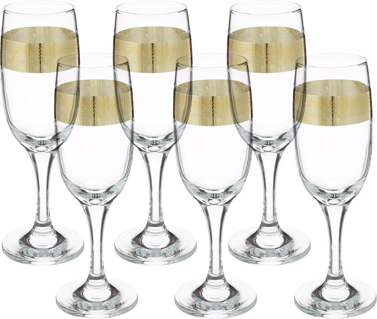 Набор бокалов Гусь-Хрустальный Пирамида, TAV92- 419, 190 мл, 6 шт набор бокалов гусь хрустальный золотой карат