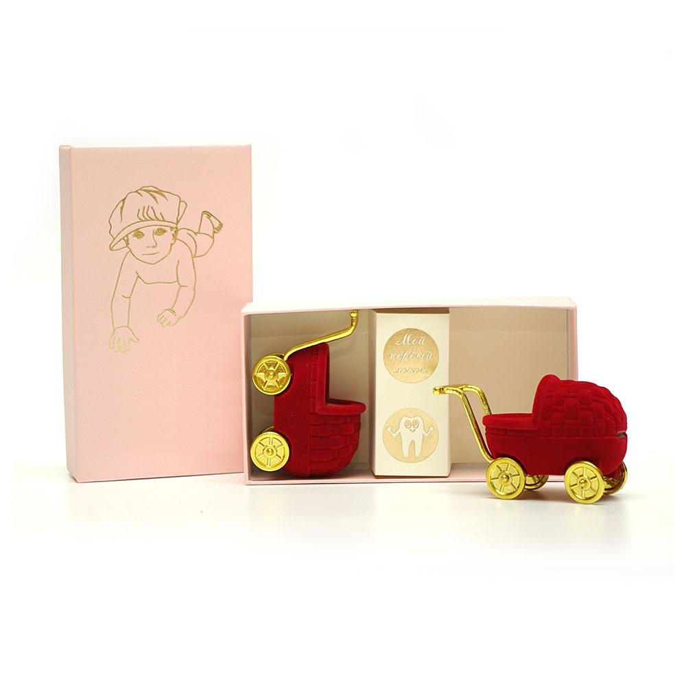 Подарочный набор детский Dream Service Коробочка для первого: локана и зубика, 1692 розовый набор шкатулок для рукоделия bestex 3 шт zw001250