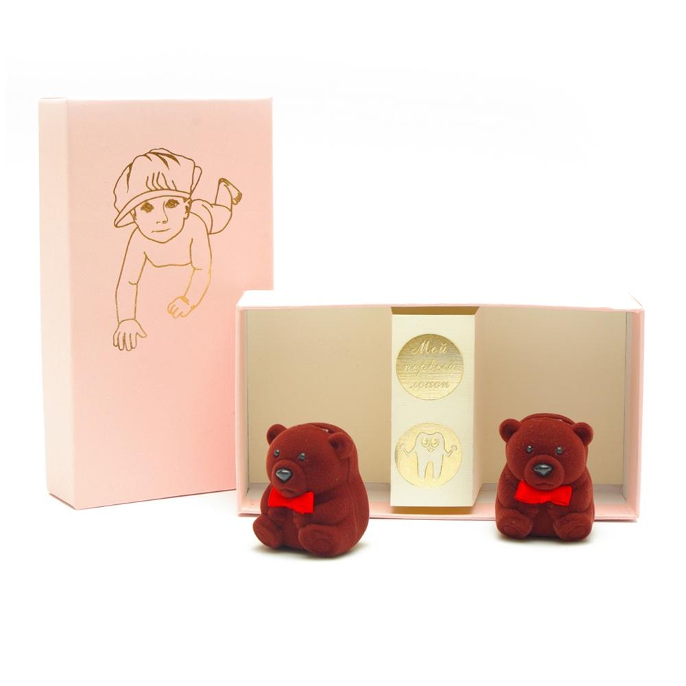 Подарочный набор детский Dream Service Коробочка для первого: локана и зубика, 274 розовый набор шкатулок для рукоделия bestex 3 шт zw001250
