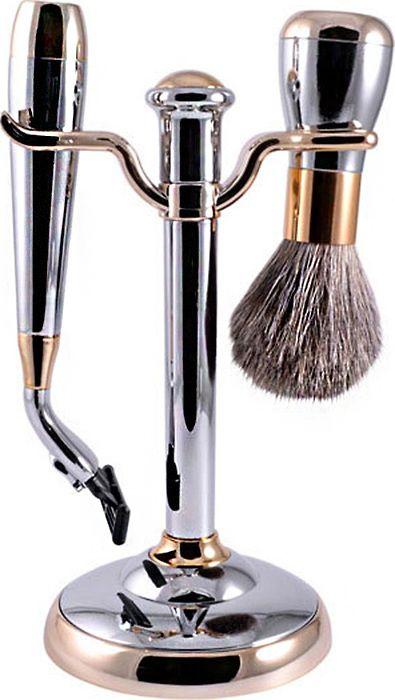 Набор для бритья Weisen подарочный, станок под лезвия для Gillette Mach-3, MSS-1622 C/G