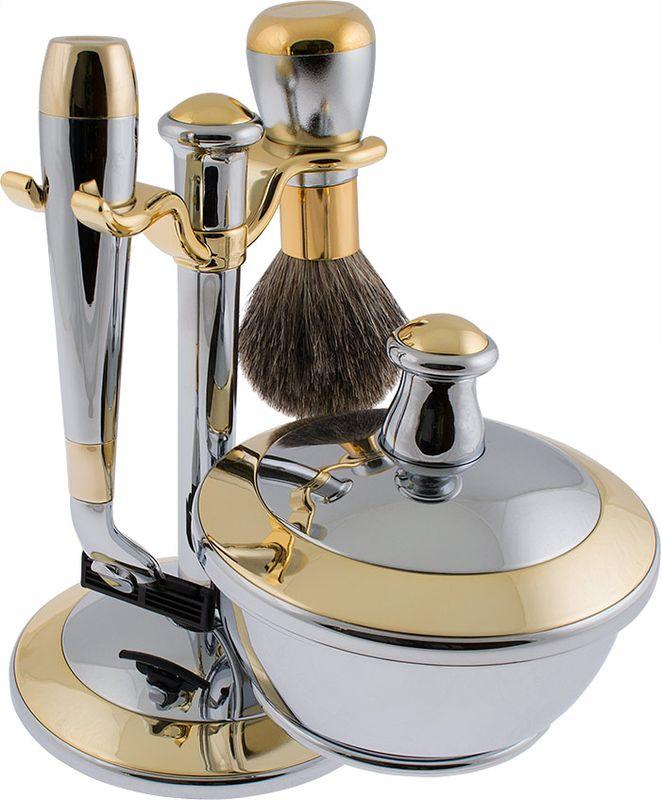 Набор для бритья Weisen подарочный, станок под лезвия для Gillette Mach-3, MSS-90232 C/G