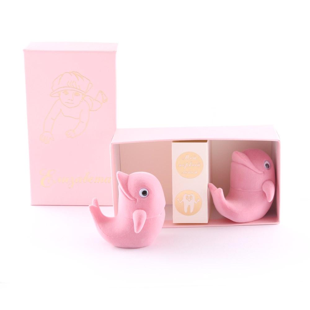 Подарочный набор детский Dream Service Коробочка для первого: локана и зубика, 951 розовый набор шкатулок для рукоделия bestex 3 шт zw001250