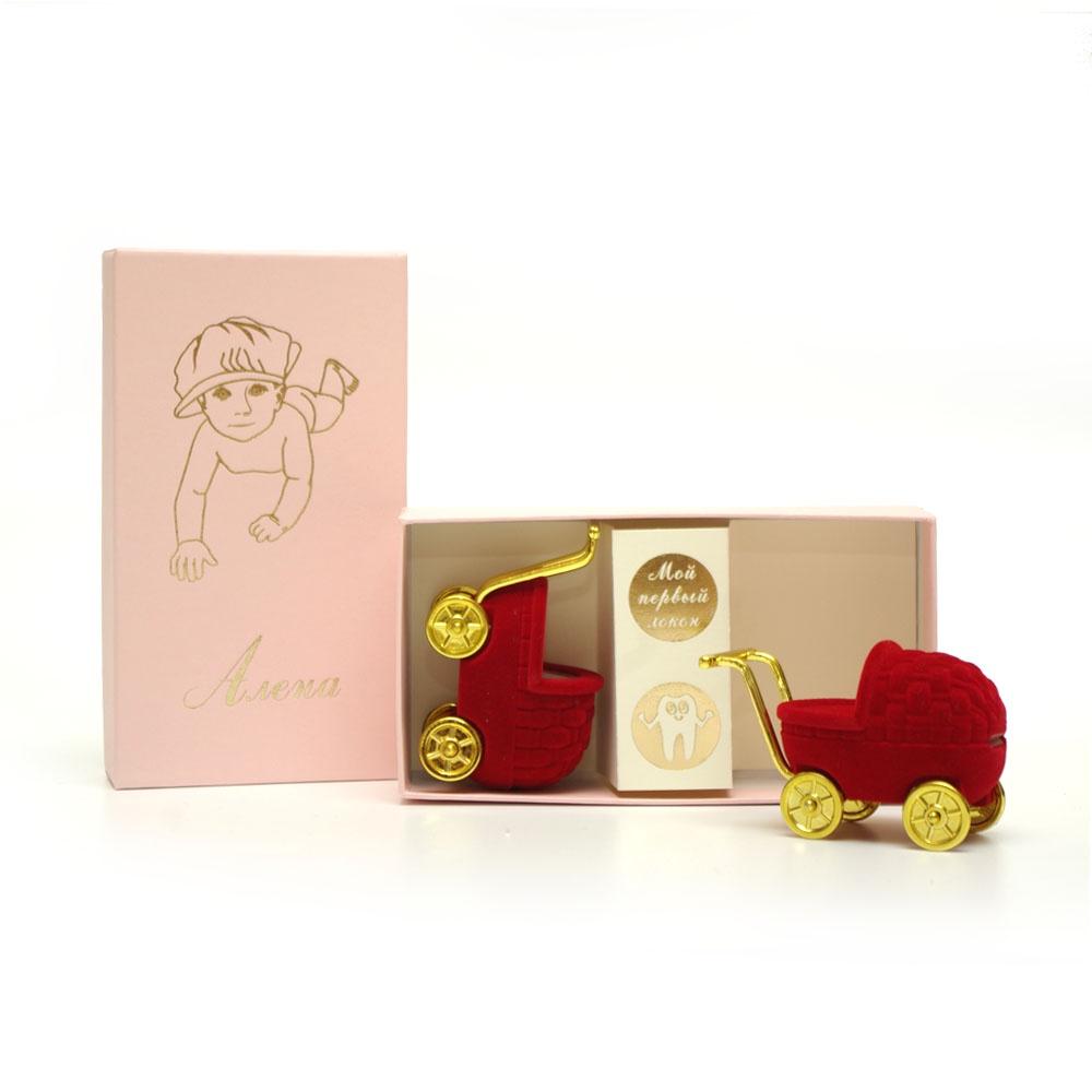 Подарочный набор детский Dream Service Коробочка для первого: локана и зубика, 520 розовый набор шкатулок для рукоделия bestex 3 шт zw001250